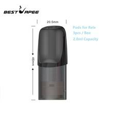 2019 nowy 3 sztuk oryginalne słuchawki douszne do Relx zestaw Vape zestaw startowy z 2ml pojemność napełniania ceramiczne rozpylanie cewkis postawy polityczne w Relx Q30 do napełniania Pod tanie tanio GreenSound Nie-wymienne Plastic Relx Vape Kit Starter Kit Disposable VS Relx Q30