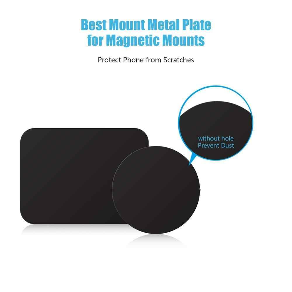 Fimilef 8 adet/5 adet/grup Metal Plaka Disk mıknatıslı araba telefon tutucu sac demir Sticker Manyetik Cep telefon tutucu Araba Standı