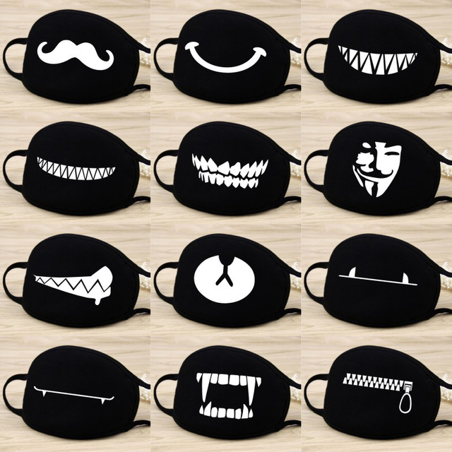 2020 Men Women Cotton Dust Mask Cartoon Expression Teeth Muffle Respirator Anti Kpop Bear Facemask Face Mouth Mask 1