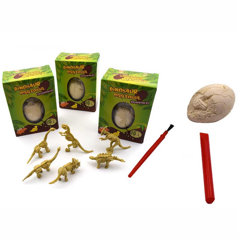 Uovo di Dinosauro Archeologia Scavo Giocattoli per Bambini Fai da Te Fossile di Dinosauro Science Education Giocattoli Dinosauro Scavo Giocattoli