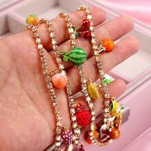 Женское Ожерелье с кулоном flatfoosie модное милое ожерелье