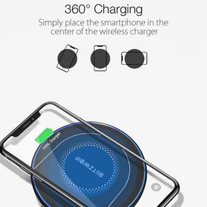 Image 3 - BlitzWolf BW FWC7 Fast Wireless Charger 15W USB Qi Charging Pad for Mobile Phone