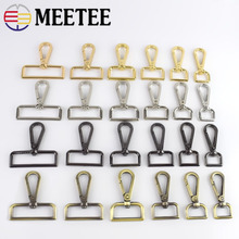 5/10pcs Meetee 16-50mm Luggage Straps Metal Buckles Dog Collar Hanger Lobster Clasps Swivel Trigger Clips Snap Hook DIY Craft