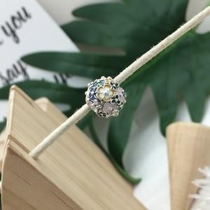 Image 4 - Pulseira 2019 prata sterling 100%, bracelete mágico borboleta robô coração em formato de flor