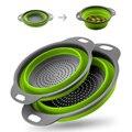 Креативные кухонные инструменты для мытья фруктов и овощей, полезная складная корзина для чистки, сетчатый кухонный аксессуар, гаджеты, при...