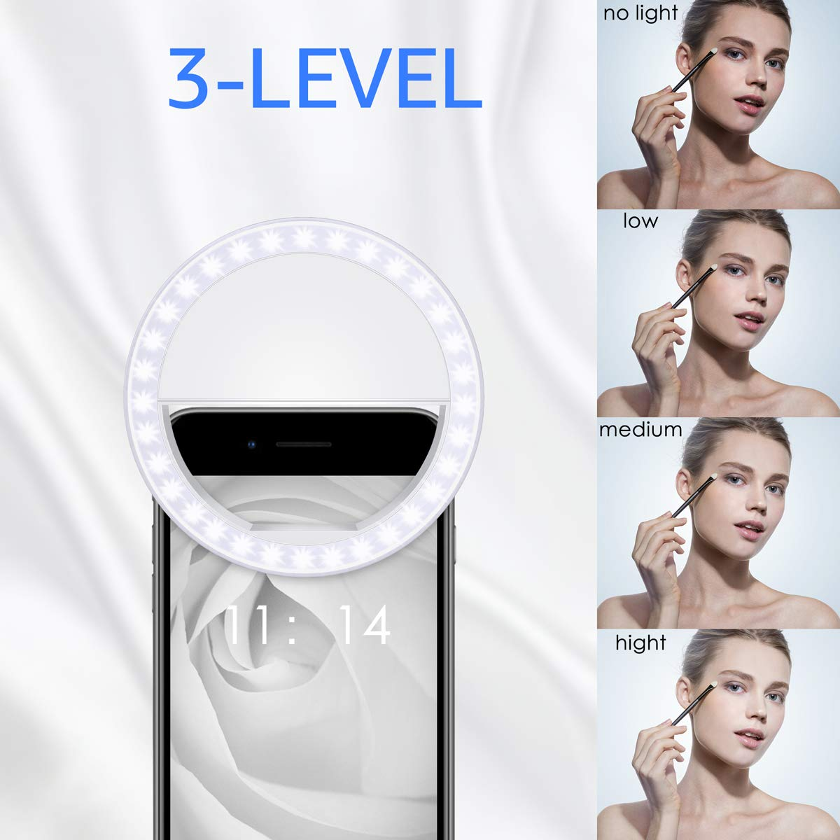 Image 2 - Smart Phone Camera  Androids Vlogging on Instagram Facebook YouTube   36 Rechargable LED Phone Light-in Phone Holders & Stands from Cellphones & Telecommunications
