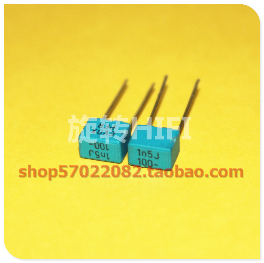 100PCS 630V 0.0015uF 1.5nF 1500pF 2J152J ±5/% Mylar Film Capacitors Radial