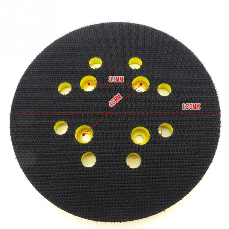 Image 3 - 125mm 8 Hole For Electric Grinder Backing Polishing Self Adhesive Wear Resistance Sanding Disc Accessories Sandpaper Plate Pad-in Abrasive Tools from Tools