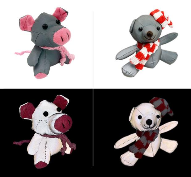 Safety Signs For Children Students Gift Reflective Fabric Toy Walking At Night Rabbit Pig Doll Backpack Pendant Key Ring