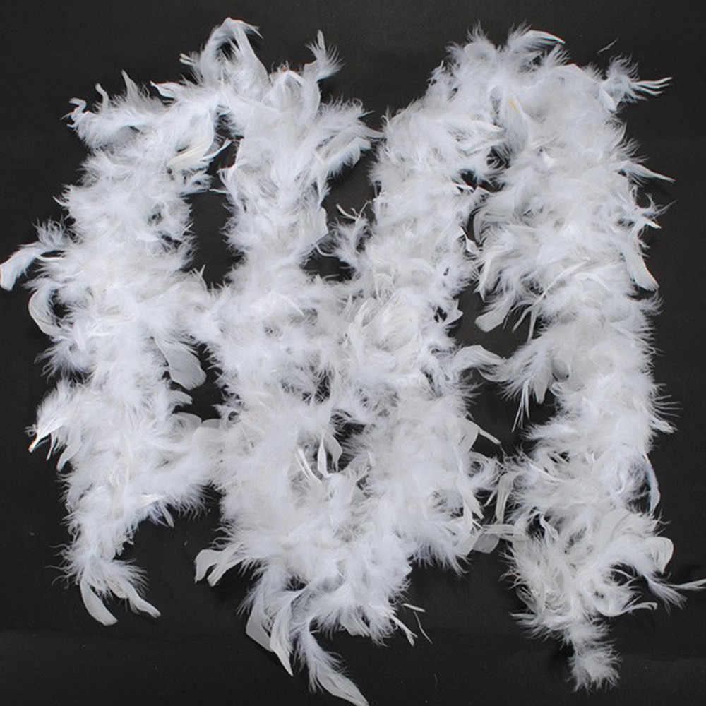 FEATHER แฟนซีชุดผ้าพันคอผู้หญิง BOA Burlesque Showgirl Hen Night เทศกาลเทศกาลประดับผ้าพันคอสุภาพสตรี echarpe hiver Femme