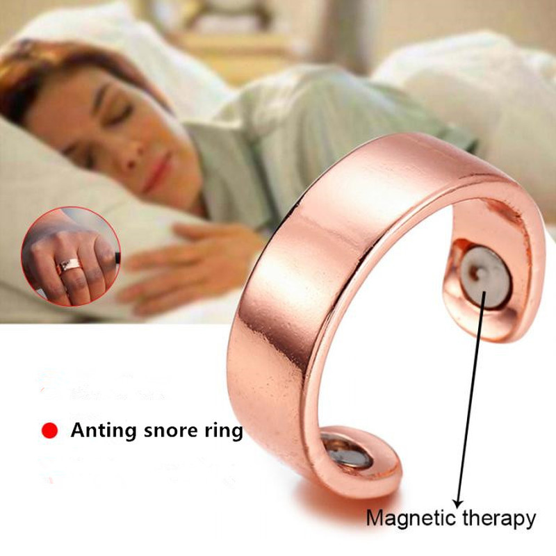 Snoring Device Anti Snoring Ring Magnetic Therapy Acupressure Treatment Against Finger Ring Anti Snore Sleep Aid For Snoring