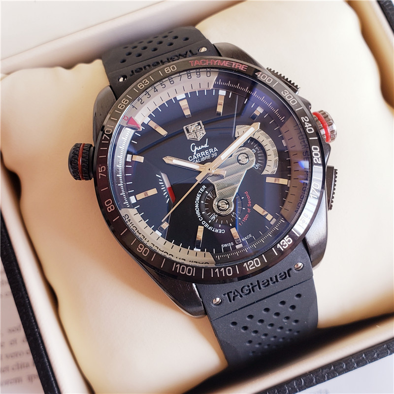 TAG  Heuer  New Automatic Mechanical Men Watch Silver Blue Stainless Steel Transparent Sapphire Glass AAA Glide Watches 931|Mechanical Watches|   - AliExpress