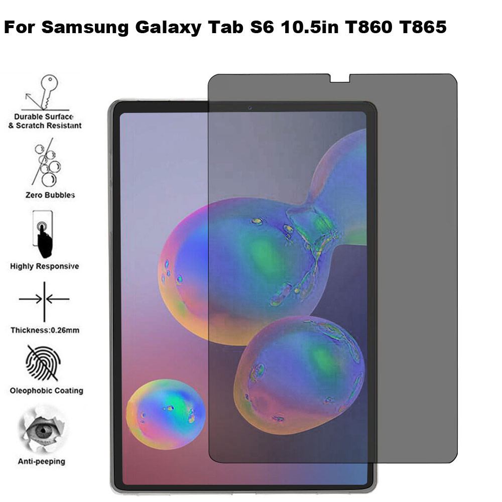 Privacy Anti-Spy PET Film Screen Protector For Samsung Galaxy Tab S6 10.5in T860 Tablet Screen Protector