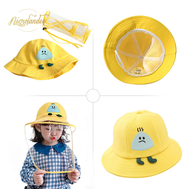 NICROLANDEE Fisherman Cap with Removable Shield Anti-Spitting Anti Saliva Fog Windproof Dustproof Hat Protection for Children 1