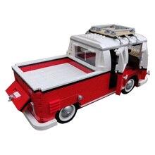 New T1 Doka Compatible 10220 High-Tech Series VW T1 Camper Van Building Blocks Car Model Bricks Bus 21001 Toys For Children Gift