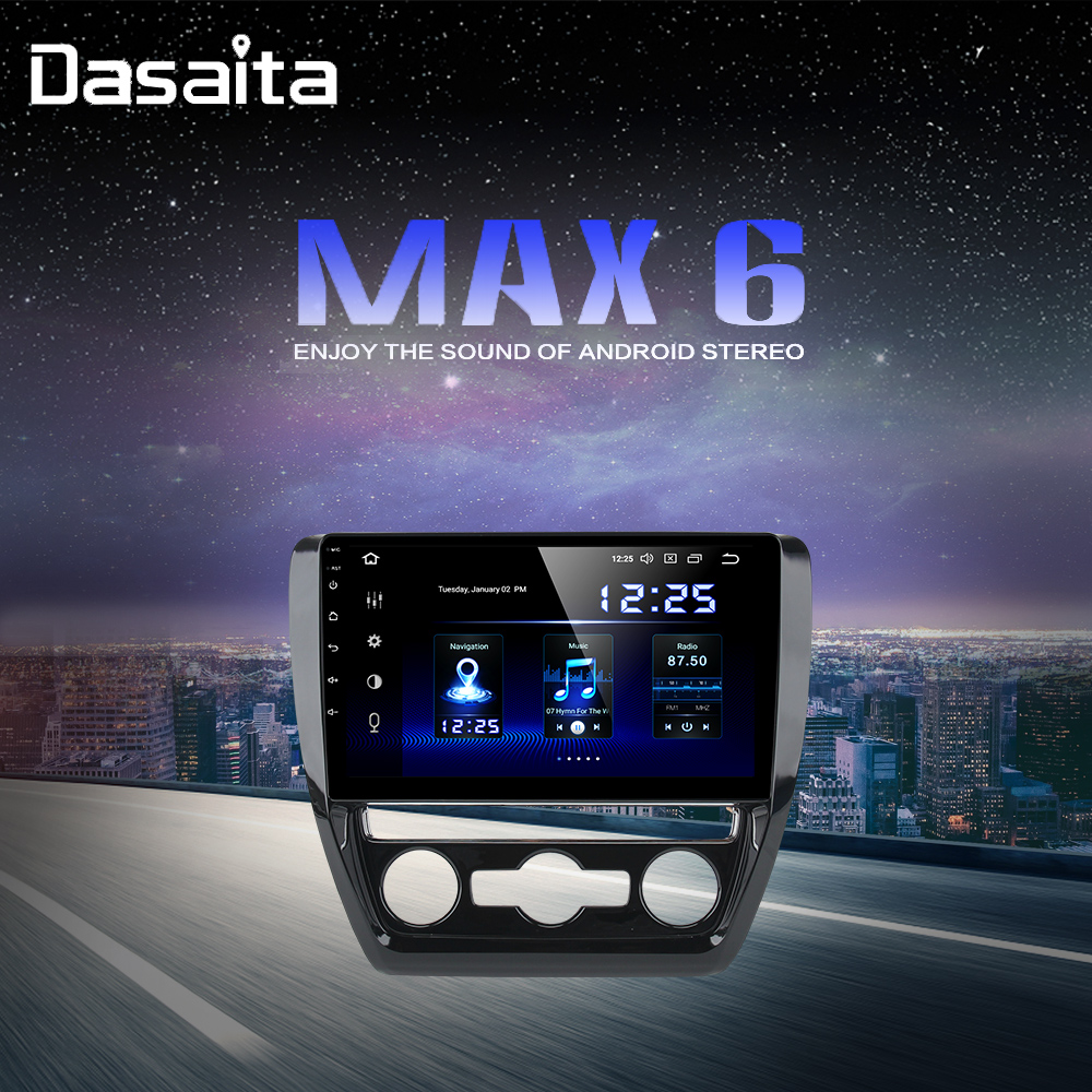 Android 9.0 Car 1 Din Radio for <font><b>VW</b></font> <font><b>Jetta</b></font> 2011 2012 2013 2014 <font><b>2015</b></font> GPS 64GB ROM 10.2