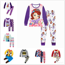 Children Clothing Set Baby Boy Spiderman Frozen Anna Minnie Cars Kid Pyjama Pija