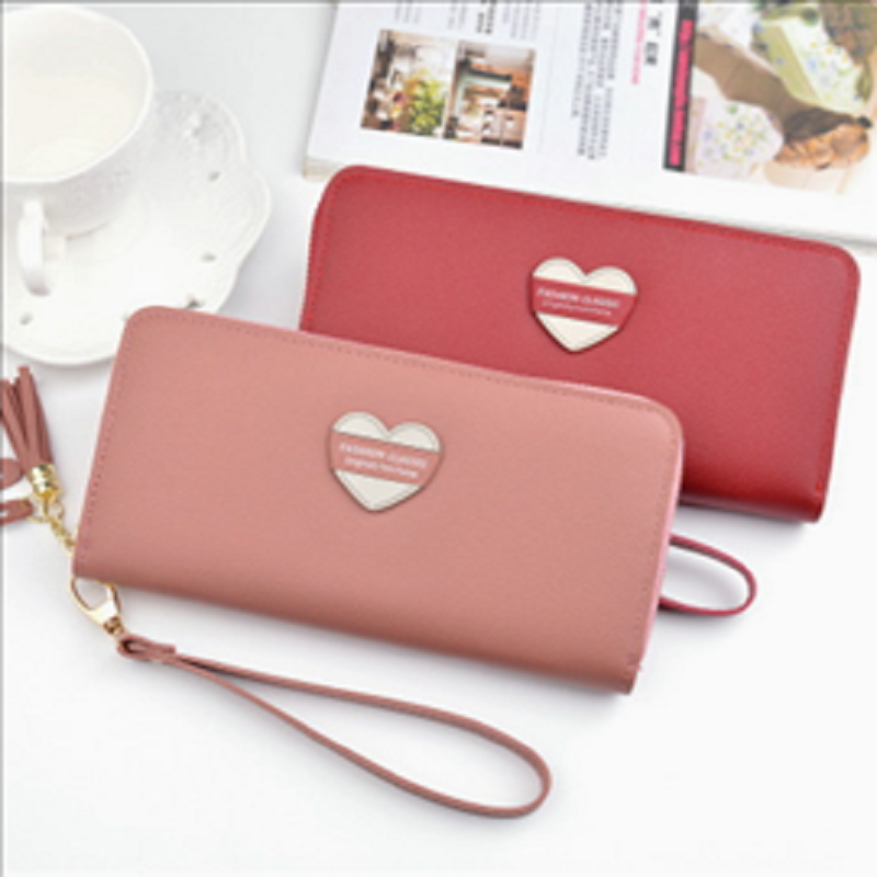 2020 new wallet women's long zipper wallet large capacity women's wallet change fringe mobile phone handbag