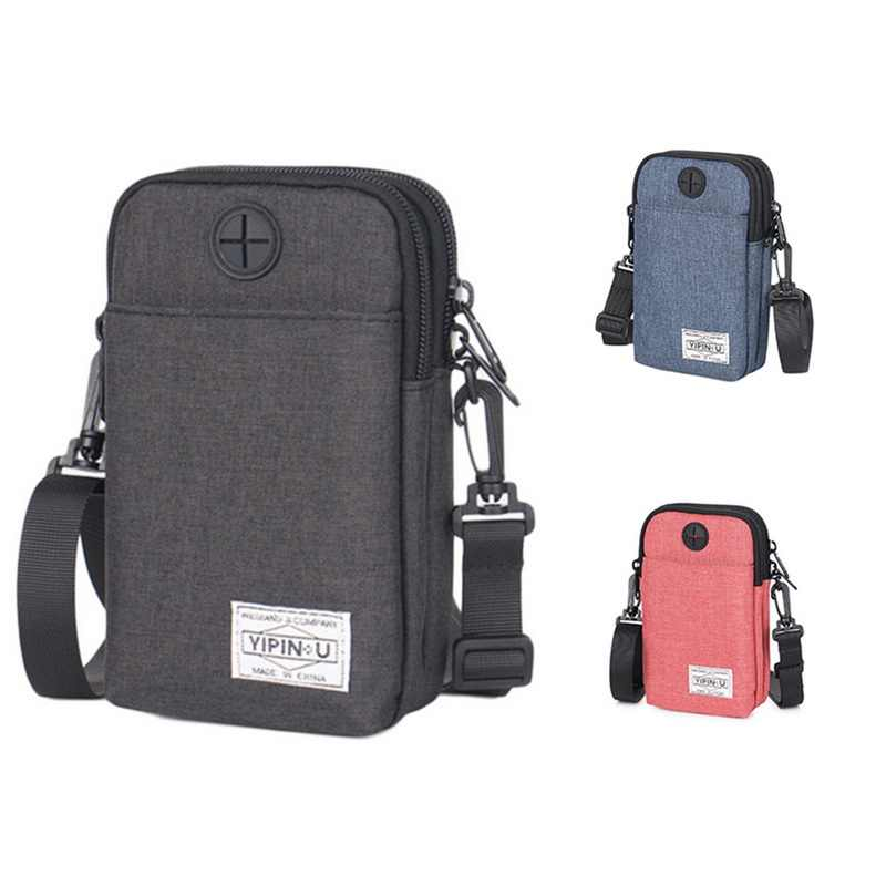 Adisputent Waterproof Casual Pockets Mini Mobile Phone Bag Mini Cycling Crossbody Small Bag Multi- Fashion Shoulder Bag