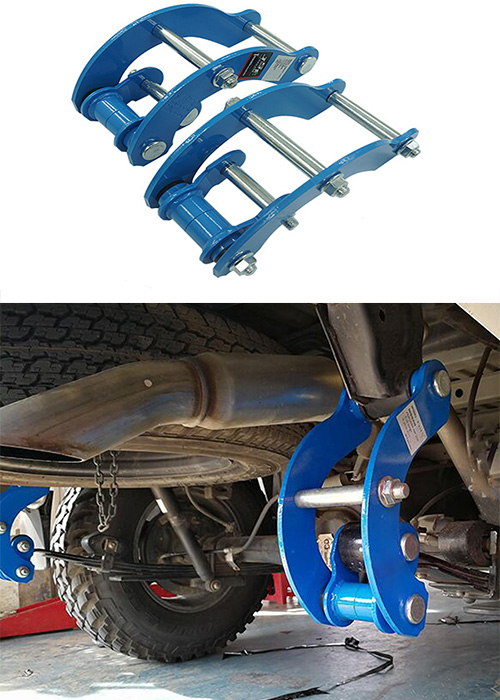 New Rear Suspension Lift Up Kits for Nissan Navara1997-2019 Coil Strut Shocks Absorber Spacers Spring Raise Double lift Shackles image