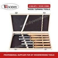 WOODIY 6PC Wood Turnning Tools With Wood Handle wood turning lathe chisel set