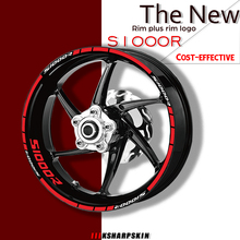 Motorcycle wheel stickers reflective decorative Rim moto car stickers and decals tire stickers kit For BMW S1000R s1000 r tanie tanio FULLSIX CN(Origin)