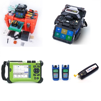 Fusion Splicer OTDR Kit Orientek Fusion Splicer T45 Splicing Time 9s Fusion Splicing Machine SM OTDR SV20A 1310/1550nm OPM OLS фото