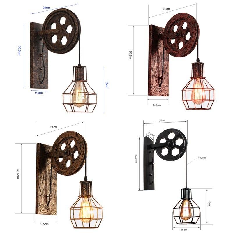 Купить ретро винтажный настенный светильник тент потолочный подъемный