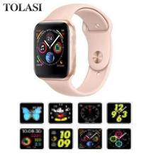 NEW 44mm size 1:1 Smart Watch IWO 8 Alloy matte case similar series 4 Heart Rate Smartwatch SIRI For iOS Android PK IWO 5 6 Gift цена