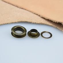 500 zestawów paczka (średnica zewnętrzna) 27mm (wewnętrzny) 17mm (wysoka) 4 5mm miedzi płaska strona oczka metalowe zasłony przelotki tanie tanio Rongxiao Rivet 5 gram TB21 Eyelet grommet Iron etc Guangdong China (Mainland)