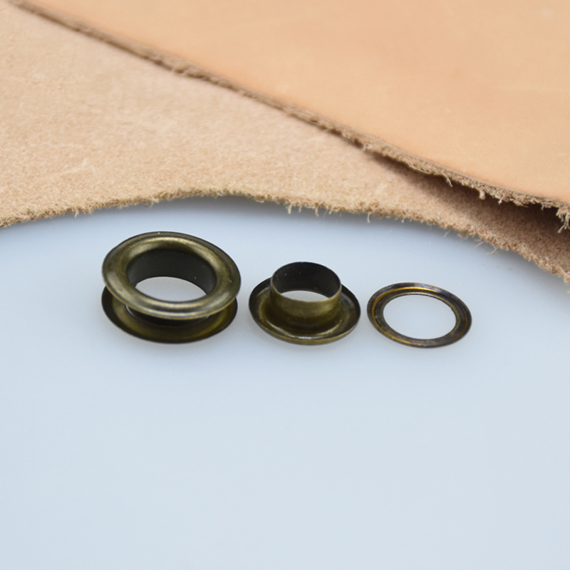 500sets/pack (Outer Diameter)27mm (internal)17mm (high)4.5mm Copper Flat Side Eyelets Metal Curtain Grommets