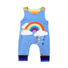 Toddler Baby Romper  Kids Baby Boy Clothes Rainbow Sleeveless Romper Jumpsuit  Overall Outfit Summer baby kids summer outfits infant toddler baby kids unicorn romper toddler girls rainbow with unicorn bubble romper clothing