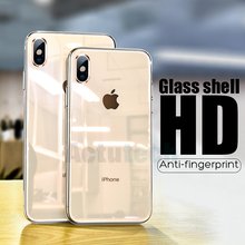 6D Luxury Tempered Glass Case For Apple iPhone 7 8 Plus iPhone 7 6 6s Case Capinhas Cover Coque For iPhone XS MAX XR X 10 Case oppselve breath case for iphone x 7 6 6 s plus luxury ultra thin slim hard pc cover case for iphone x ix coque fundas capinhas