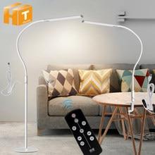 Braço longo lâmpada de mesa clipe escritório lâmpada de mesa 64 pçs led usb luz 3 cores x5 dimable nível proteção para os olhos ajustável estudo luz