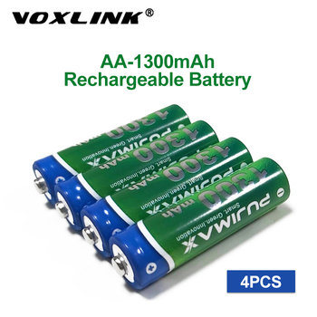 VOXLINK AA Battery 1300mAh 1.2V 4PCS rechargeable battery pre-charged recharge ni mh rechargeable battery For camera microphone voxlink aaa battery 1 2v 1100mah 8pcs rechargeable battery pre charged recharge ni mh rechargeable battery for camera microphone