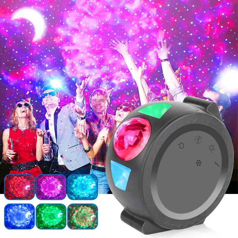 Starry Sky Projector Galaxy Projector Lamp LED Ocean Waving Lights 360 Degree Rotation Projetor Galaxia Night Light Lamp
