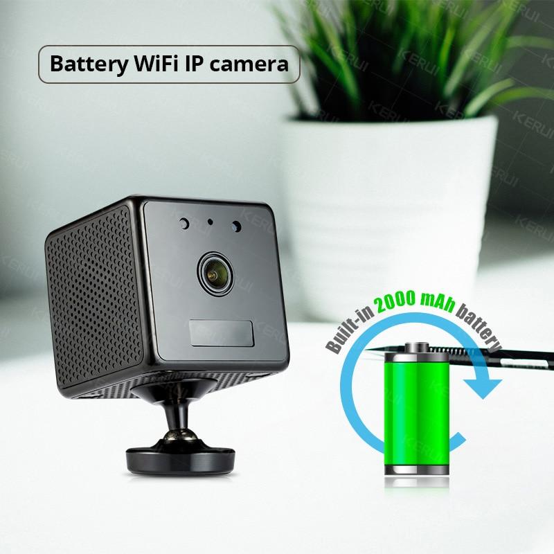 KERUI 960P przenośna mała minibateria bezprzewodowa bezpieczeństwo w domu kamera IP WiFi kamera monitorująca noktowizyjna kamera telewizji przemysłowej