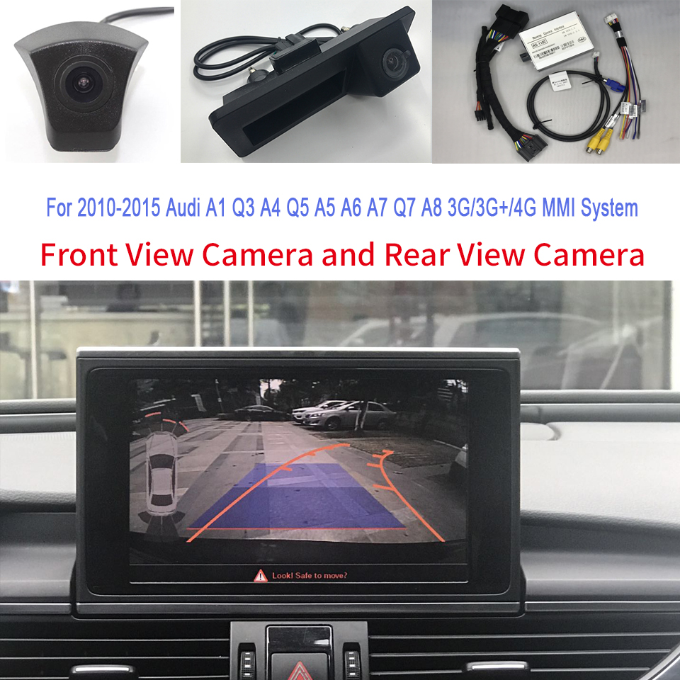 Sale  Includes Front View Camera And Rear View Camera In Car Interface Adapter For Audi A4 B8 B8.5 4K 201