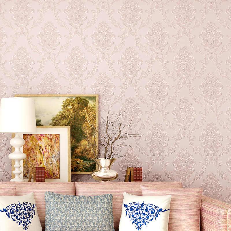 Beibehang europeu não-tecido damasco auto-adesivo papel de parede quarto sala tv fundo papel de parede 3d estéreo paer