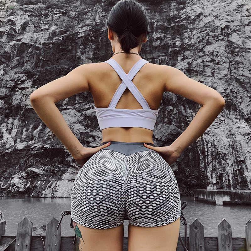 Women Sexy Waist Yoga Shorts Workout Running Stretch Hottestleakedbabes 1