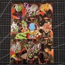 9pcs/set Dragon Ball Z Black Goku Baqu 9in1 Super Saiyan Goku Vegeta Hobby Collectibles Game Anime Collection Cards