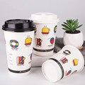 50 шт Высокое качество креативная забавная одноразовые  для молока чайная чашка утолщенная для кофе  чая  бумажный стаканчик на вынос упаков...