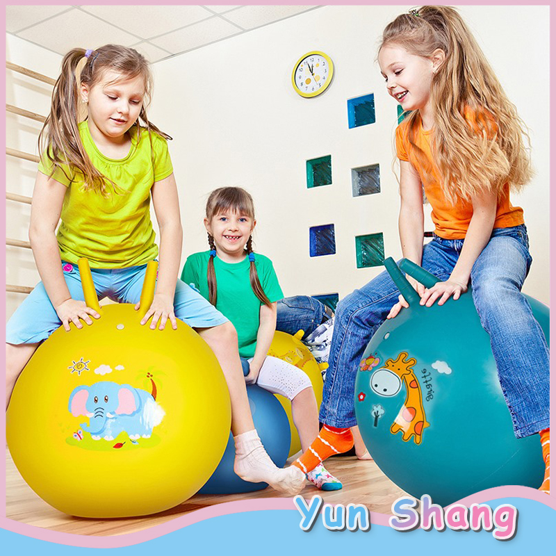 65cm Inflatable Bouncing Ball Random Color Jumping Balls With Inflator Kids Children Outdoor Play Games Bouncing Balls Indoor