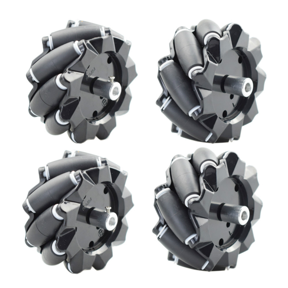 5/10/15KG Load 60/80/96mm Omni Mecanum Wheel with 4/6mm TT Hubs for Arduino Raspberry Pi DIY STEM Robot Car Chassis Toy Parts