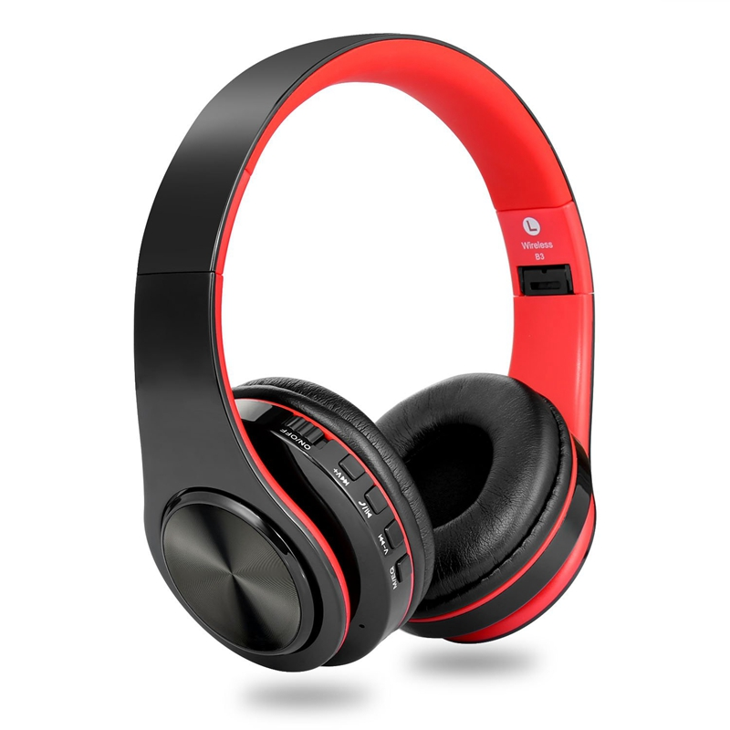 Dozed over Ear Bluetooth Headphones, Foldable Hifi Deep Bass Wireless Headphones with Microphone and Wired Headset Support SD/TF