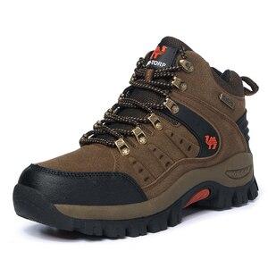 Image 2 - 2019 커플 야외 산 사막 등산 신발. 남성 여성 발목 하이킹 부츠, 플러스 사이즈 패션 클래식 트레킹 신발