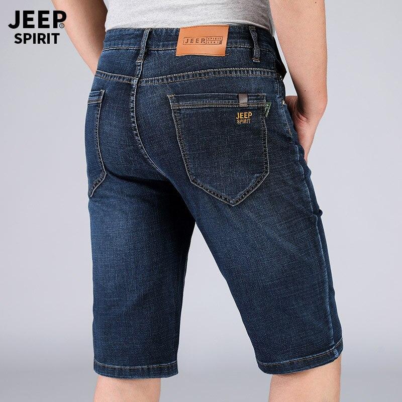 Jeep/Jeep 2019 Summer MEN'S Jeans Shorts Shorts Elasticity Cotton Medium Waist Large Size Men's Trousers Casual Pants