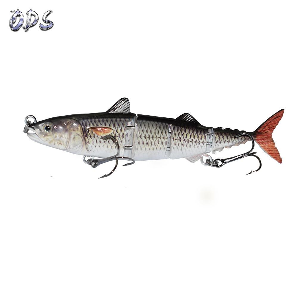 ODS 4 секции, плавающая приманка для тунца, 15 см, 31 г, бесплатный образец, рыболовные приманки, жесткие шарнирные приманки для ловли окуня в соленой и пресной воде - Цвет: 379