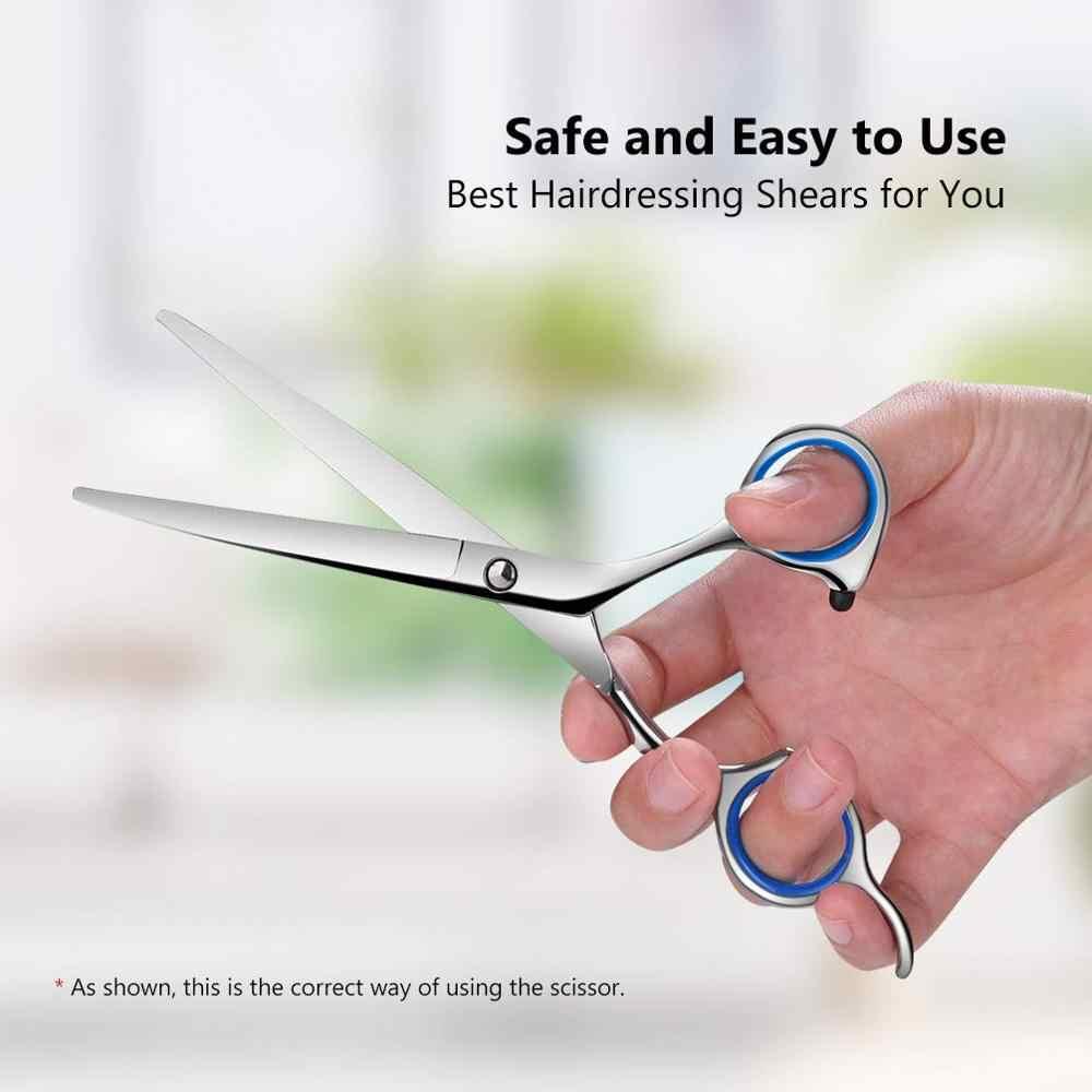 YBLNTEK nożyczki fryzjerskie 6 Cal nożyczki fryzjerskie profesjonalne nożyczki fryzjerskie wycinanie usuwanie urządzenie do stylizacji fryzjerskie ścinanie