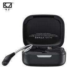 Auriculares KZ AZ09 con Cable, cascos con Bluetooth 5,2, gancho de oído inalámbrico HIFI con estuche de carga para KZ C Pin